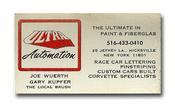 Gary's original, Ultra Automation Business Card from 1968